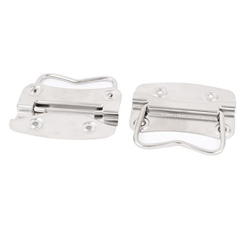 uxcell Trunk Drawer Cupboard Tool Box Chest Drop Pull Handle Silver Tone Pair (Toolbox Drawer Pull compare prices)