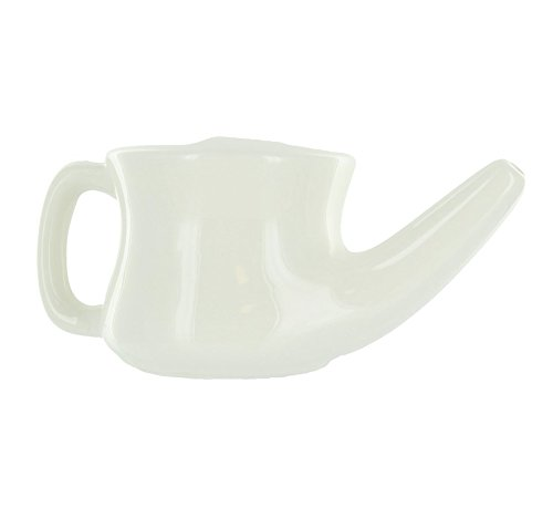 Banyan Botanicals Ceramic Neti Pot - Sinus Wash Pot Used To Naturally Support Clear Breathing and Sinus Health, Providing Soothing Relief to Nasal Dryness (Nasal Rinse Cup)
