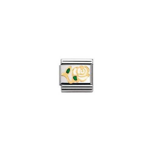 Nomination - 030214 - Maillon pour bracelet composable Mixte - Acier inoxydable et Or jaune 18 cts