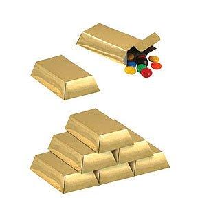Foil Gold Bar Favor Boxes Party Accessory (1 Count) (12/pkg) from PMU
