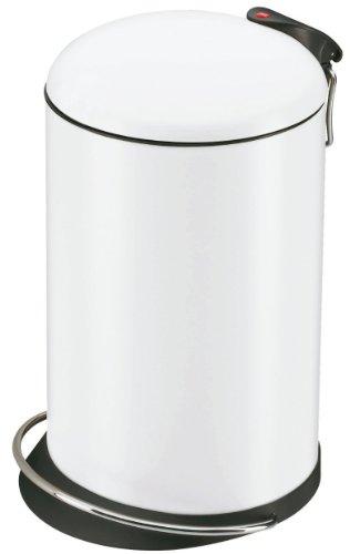 Hailo 0514-340 Design Tret-Abfallsammler TOPdesign 16, weiß
