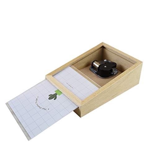 UMFunPhotoframe Beech Music Box Creative Home Eight-Tone Box Craft Decoration Gift ()