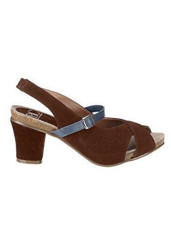 Sandalette Damen aus Leder von Andrea Conti Cognac
