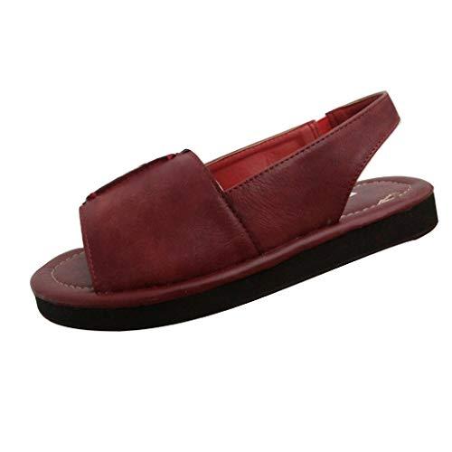- Summer Flat Sandals for Women Comfortable Casual Beach Shoes Platform Hawaii Flip Flops Handmade Sandals Wine
