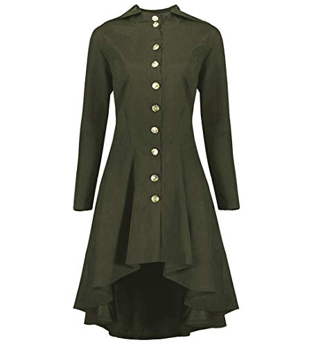 Baiggooswt Vintage Womens Steampunk Victorian Swallow Tail Long Trench Coat Jacket Thin Outwear