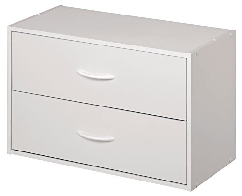 ClosetMaid 1566 Stackable 2-Drawer Horizontal Organizer, White (Drawer Chest Painted 3)