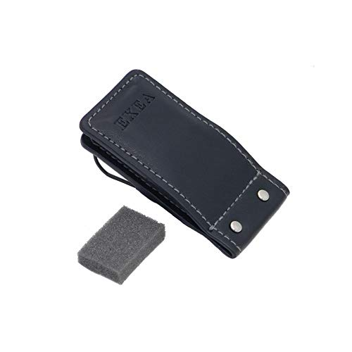 SEIKOSANGYO CO., LTD. EC-123 Sunglasses Holder for Use in Car Genuine Leather Look Easy on/off with Magnet Attaches to the Sun Visor Designed in Japan Black