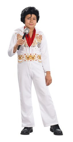 Child Elvis Toddler Costume, One-Size, White