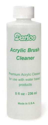Darice Acrylic Brush Cleaner for Paint Brush Care, 8 fl oz