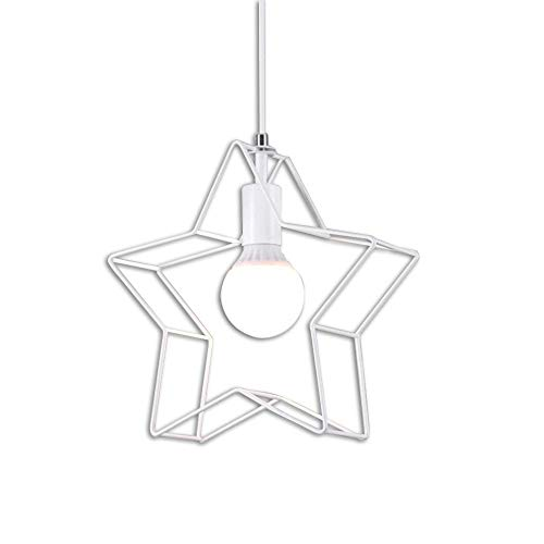 Nordic Style Candlestick Wrought Iron Wedding Home Decoration Simple Five-Pointed Star Single Head Romantic Personality Lamps 516DD (Color : White, Size : B) - Green Single Light Candlestick