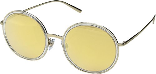 Giorgio Armani  Men's 0AR6052 Pale Gold/Crystal/Orange Mirror Pink One - Sunglasses Gold Armani
