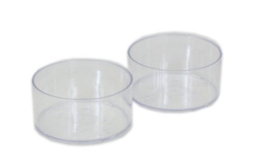 Plastic Candle Cups - Tea Light Clear Plastic Cups: 100 Cups