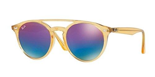Ray-Ban RB4279F Sunglasses Yellow / Green Mirror Blue Grad Violet - Ban Asian Ray Fit