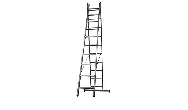 Homelux 825019 Escalera Aluminio Doble, 3.5 + 3.5 m, 2 x 13 Peldaños, 14.5 kg: Amazon.es: Jardín