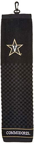 Team Golf NCAA Vanderbilt Commodores Embroidered Golf Towel, Checkered Scrubber Design, Embroidered Logo