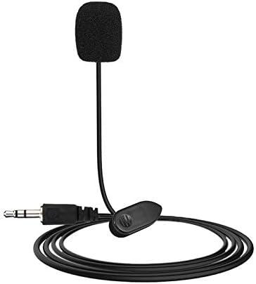 NHUAIYINSHUGUOGUANGGAOJINGY Nuevo Mini port/átil 3.5mm Mini Studio Speech Mic Micr/ófono con Clip para PC Conferencias de computadora port/átil de Escritorio Micr/ófono de ense/ñanza Negro Negro
