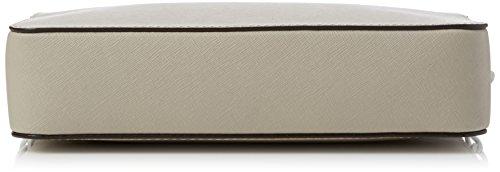 Michael Kors Jet Set Travel Large Saffiano, Sacs bandoulière femme, Grey (Cement), 24x16x6 cm (L x H L)