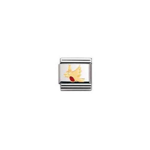 Nomination 030211 - Maillon pour bracelet composable Mixte - Acier inoxydable et Or jaune 18 cts
