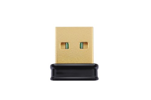 Adaptador USB Wi-Fi Edimax EW-7811Un a 150Mbps 11n, tamaño nano le permite enchufarlo y olvidarlo, ideal para Raspberry Pi /Pi2, compatible con Windows, Mac OS, Linux (Negro /Dorado)
