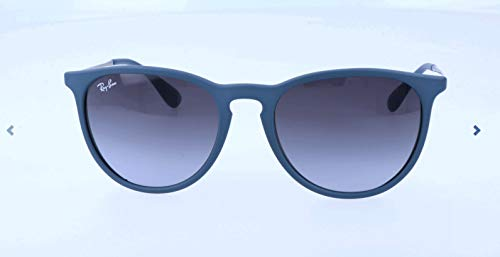 Ray-Ban RB4171 Erika Round Sunglasses, Rubber Blue/Grey Gradient, 54 mm (Ray Ban Wayfarer Matte)