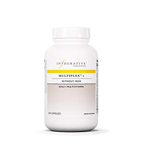Integrative Therapeutics - Multiplex-1 - Without Iron - Hypoallergenic Daily Multivitamin and Mineral Supplement - 240 Capsules