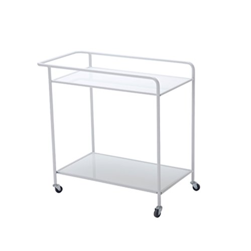 - GLJ Nordic Living Room Small Tea Table Removable Danish Cart Wheeled Small Coffee Table Wrought Iron Corner A Few Modern Simple Side Folding Table (Color : White)