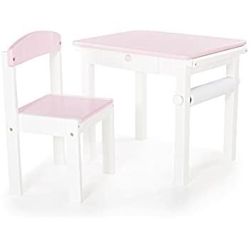Guidecraft Toddlers Art Table & Chair Set Pink - Kids Furniture
