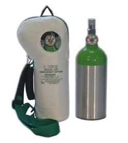 Replacement Cylinder Assembly for [LIFESoftPac] 40 minute supply @ 6 LPM 255 Liters = 9 cf at 2015 PSI = 139 BAR