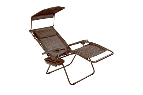 Bliss Hammocks Gravity Recliner W/ Covered Bungee, Brown Jacquard