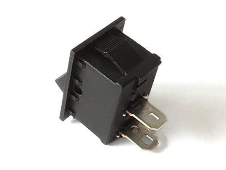 INTERRUTTORE on//off interruttore CQC kcd1-101 250v 6a 125v 10a AC 1 Pin Nero