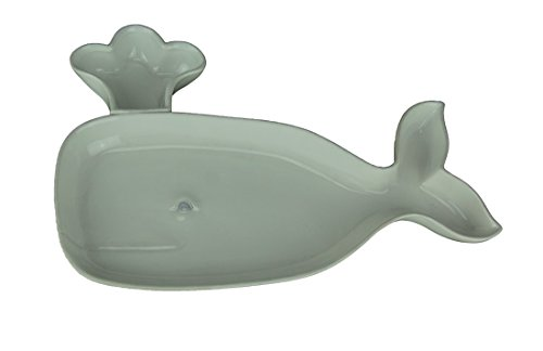Moby Dick Specialties White Ceramic Spouting Whale Decorative Serving Platter