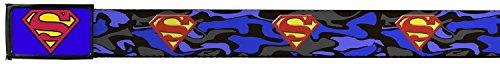 Superman DC Comics Superhero Blue Camouflage Web - Fashion Superman Belt
