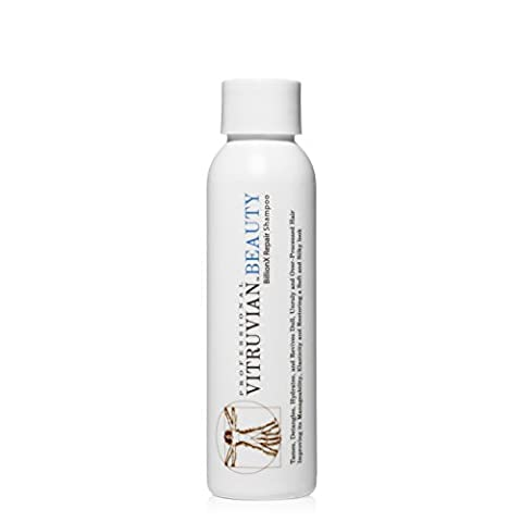 Vitruvian Beauty Organic Moroccan Argan Oil Shampoo - Intensive Damage Repair, Detangler, & Split End Treatment for Dry Hair, Damaged Hair, & Color Treated Hair, Sulfate & Paraben (Como Repara)