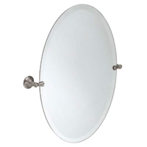 Oval Pivot Mirror - Moen Sage Brushed Nickel Mirror, DN6892BN - N/A