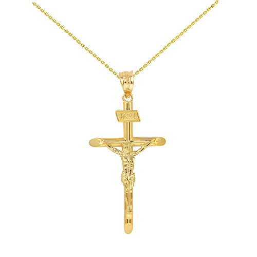 Solid 14k Yellow Gold Cross IN