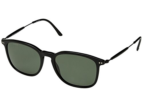 Giorgio Armani  Men's 0AR8098 Black/Polarized Greeen - Armani Sunglasses Giorgio