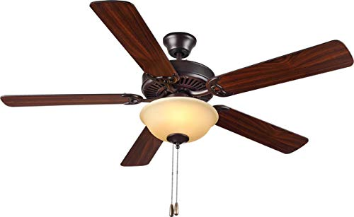 Monte Carlo BF2-BZA Traditional 52`` Ceiling Fan from HomeBuilder II Collection in Bronze/Dark Finish, See Image