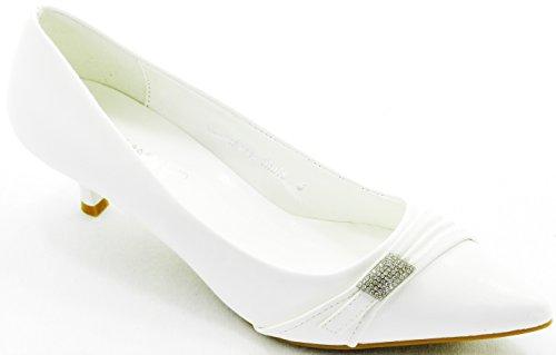 DEV Women Lady Party Clubbing Stilettos High Heel Ballerina Sandal Evening Pointy Toe Shoes White-1 r9GsS38NB