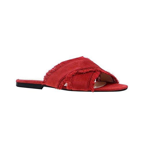 nappe Donna Sandali e Uniti Scarpe Rosso con da Europa Stati da Scarpe Basse con Croce Donna Sandali Femminili vqwx5PntC