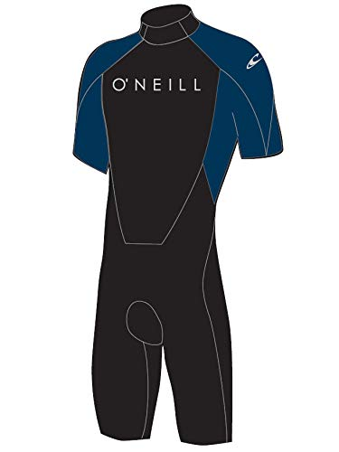 (O'Neill Reactor Mens Shorty 2mm Neoprene Spring Wetsuit (Black/Slate (5124A), Large Tall))