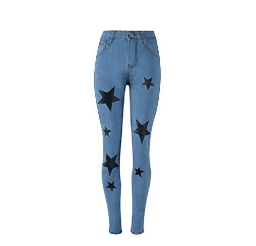 Hipster Jeans Jeans avec Bleu imprim Pantalon Jeans d't Oudan Skinny Femme Jeans Jeans toiles Skinny wWRSUUHq