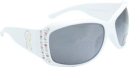 True Gear iShield Breast Cancer Awareness Sunglasses (White with White - Cancer Sunglasses Breast
