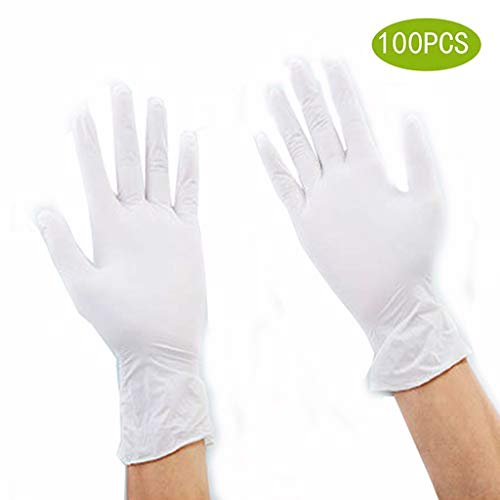YYZSL Disposable Gloves for Medical Examination Nitrile Gloves Box of 100, Latex/Powder-Free, Non-Sterile Gloves| Professional Grade for Hospitals, Law Enforcement, Food Vendors, Tattoo Artists, Home