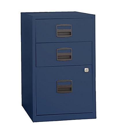 Superbe Bisley Three Drawer Steel Home Filing Cabinet, Navy Blue (FILE3 NV)