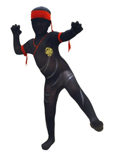 SecondSkin-Full-Body-SpandexLycra-Suit-Kids-M-Ninja