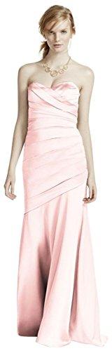 Long Strapless Stretch Satin Bridesmaid Dress Style F15586 – 14, Petal