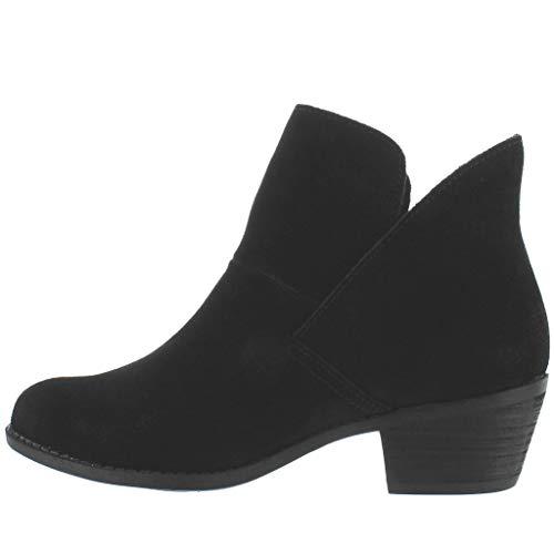 Me Too New Women's Zena14 Bootie Black Suede 7.5 (Me Too Flats)