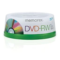 The Great Disc, DVD-RW, 4.7GB,Branded, 4x, 25/pk Spindle - 05562