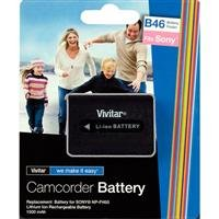 Vivitar Replacement Rechargeable Lithium Battery for the Sony NP-FH50, 1500 mAh - Battery Npfh50 Lithium