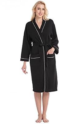 Aibrou Women's Waffle Weave Wrap Robe Kimono Bathrobe Belted Spa Robe Sleepwear